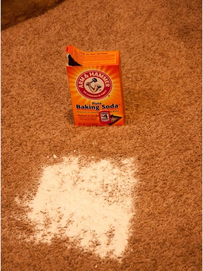 Baking soda is your best friend when it comes to home cleaning. They're cheap and absolutely safe for your family. You can even use it to remove stains to your beloved carpet.