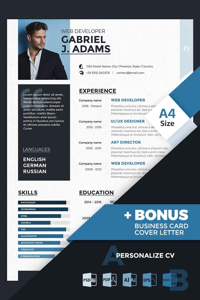 Gabriel J Adams Web Developer Resume Template Resume Web Adams Gabriel Web Developer Resume Resume Template Web Development