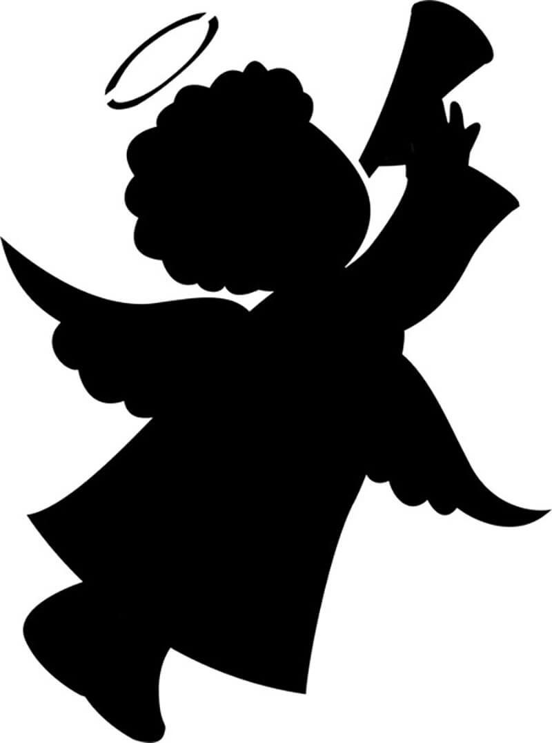картинка ангелочка для вырезания втором этапе