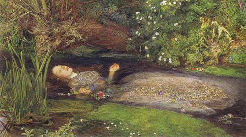 ophelia - John Everett Millais, born 8 June 1829.