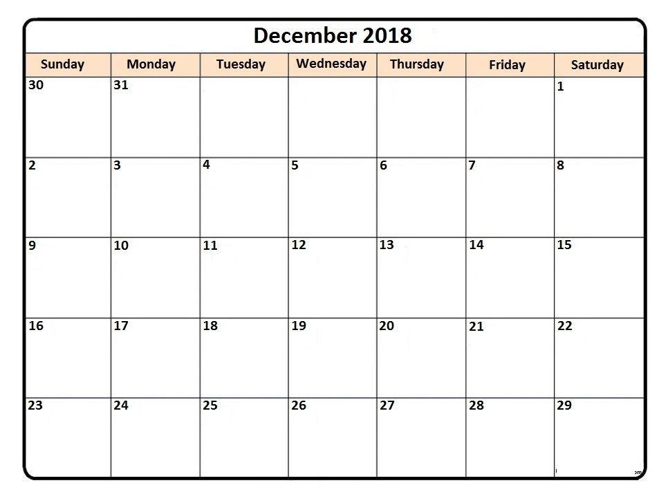 december printable calendar Monthly calendar Pinterest
