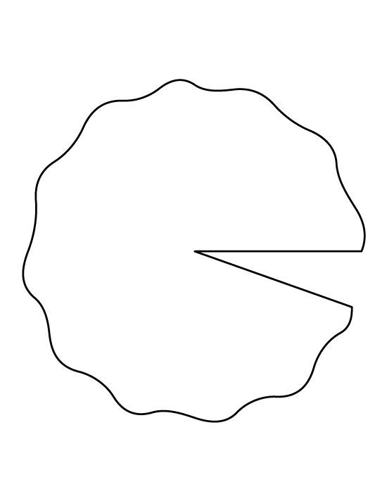 Lily Pad Pattern Use The Printable Outline For Crafts Creating