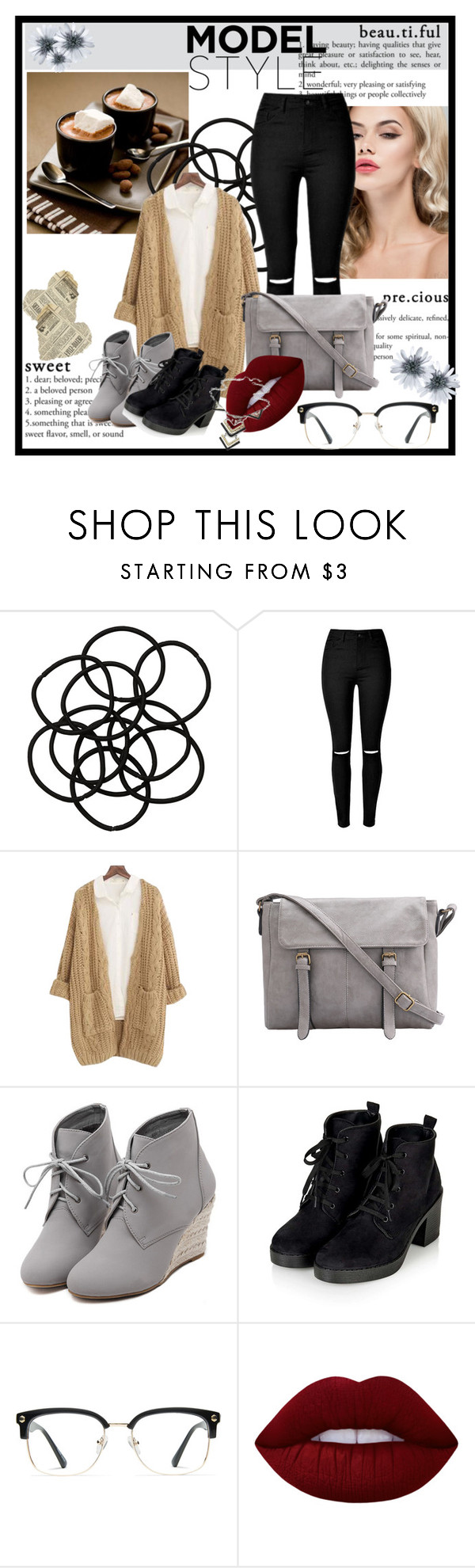 """""""- The Breakast Club -"""" by artamus on Polyvore featuring Monki, Chicnova Fashion, WithChic, Topshop, GlassesUSA and Lime Crime"""