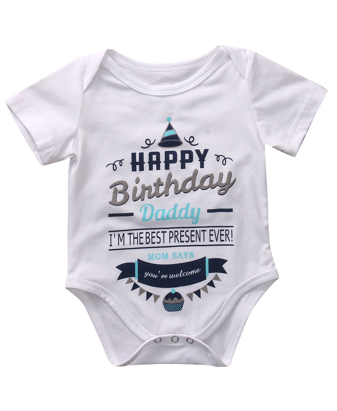 be83396b0e37c Daddy's Present Bodysuit | Graphic Bodysuits and Tees | Happy ...