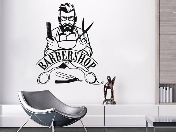 This Perfect Wall Vinyl Decal Beauty Salon Will Be A Great Addition To Any Interior Barber Shop Sign Wall Decal Barber Shop Decor Barber Shop Barber Shop Sign