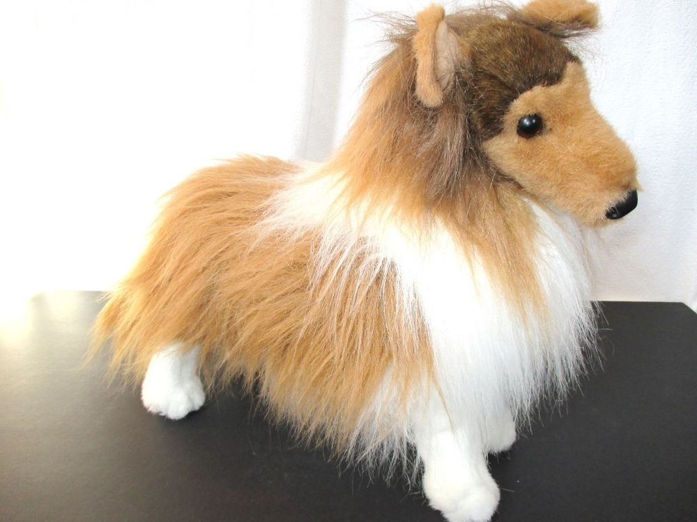 Douglas Plush Sheltie Shetland Sheepdog Dixie Stuffed Animal Dog 16