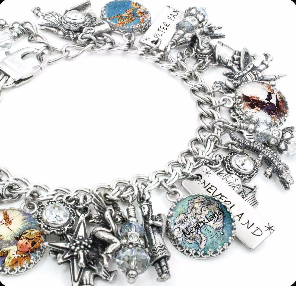 Tinkerbell Charm Bracelet Peter Pan Jewelry