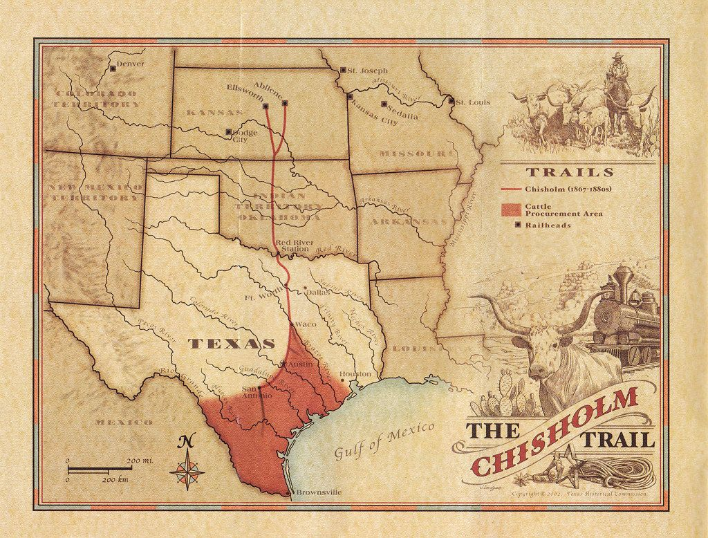 Chisholm Trail The Handbook Of Texas Online Texas State