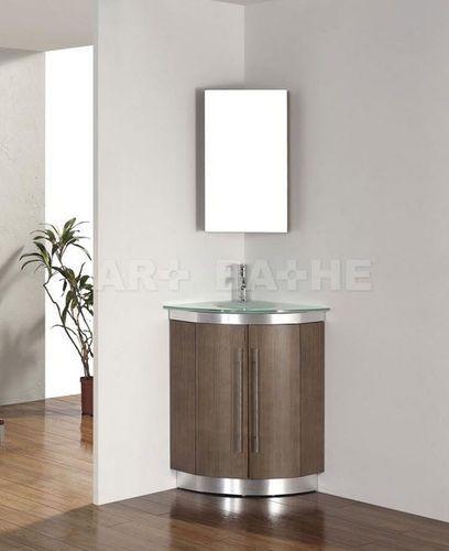 Mobile ad angolo pensile per lavabo dinara 31 smoked ash archiexpo bathrooms pinterest - Mobile ad angolo per bagno ...