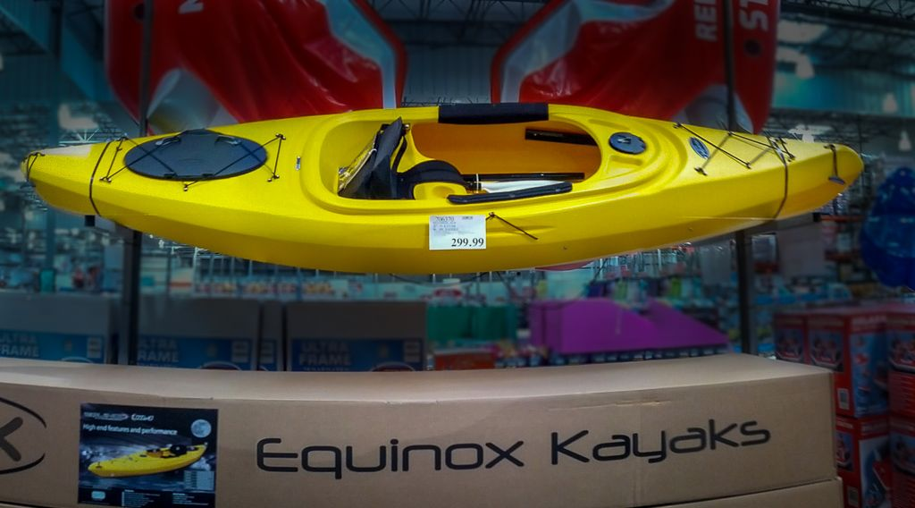Temptation: Costco Equinox 10.4 Kayak  Will I be able to resist the temptation this year?    http://www.dogberrypatch.com/?p=4225