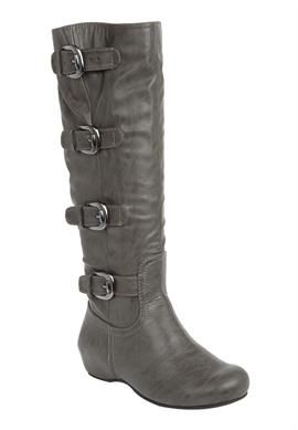 e9d65cac4b7 Frankie wide-calf tall boot by Comfortview® in Grey