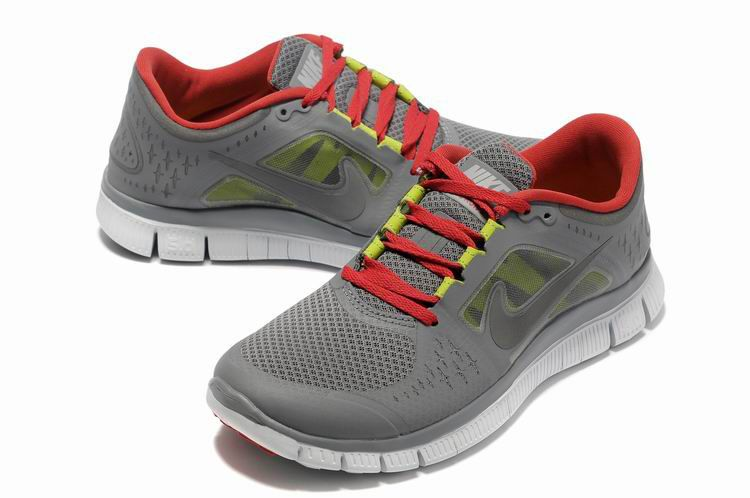 Hombre Nike Free Run 3 Carbon De Madera Gris Rojo (With ...