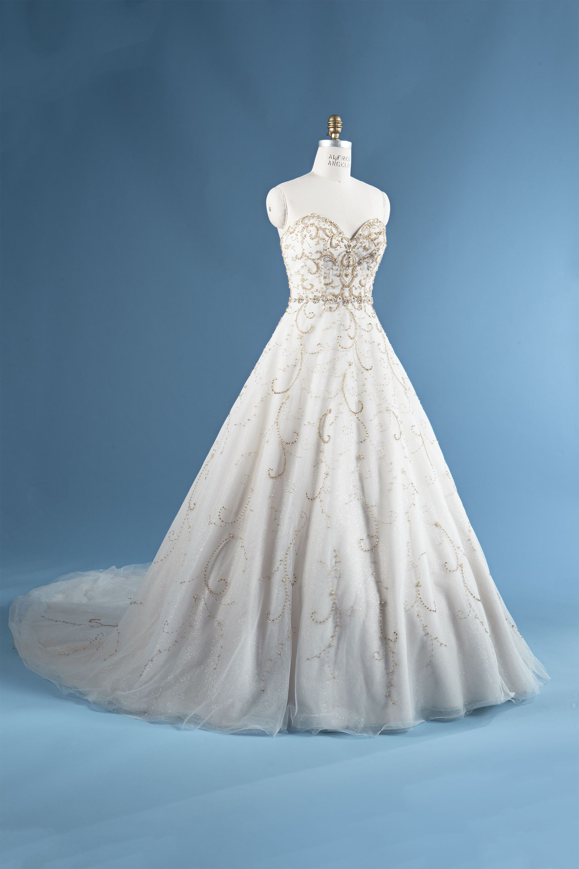 Cinderella wedding dress alfred angelo  Spend your special day dressed like the iconic Cinderella with a