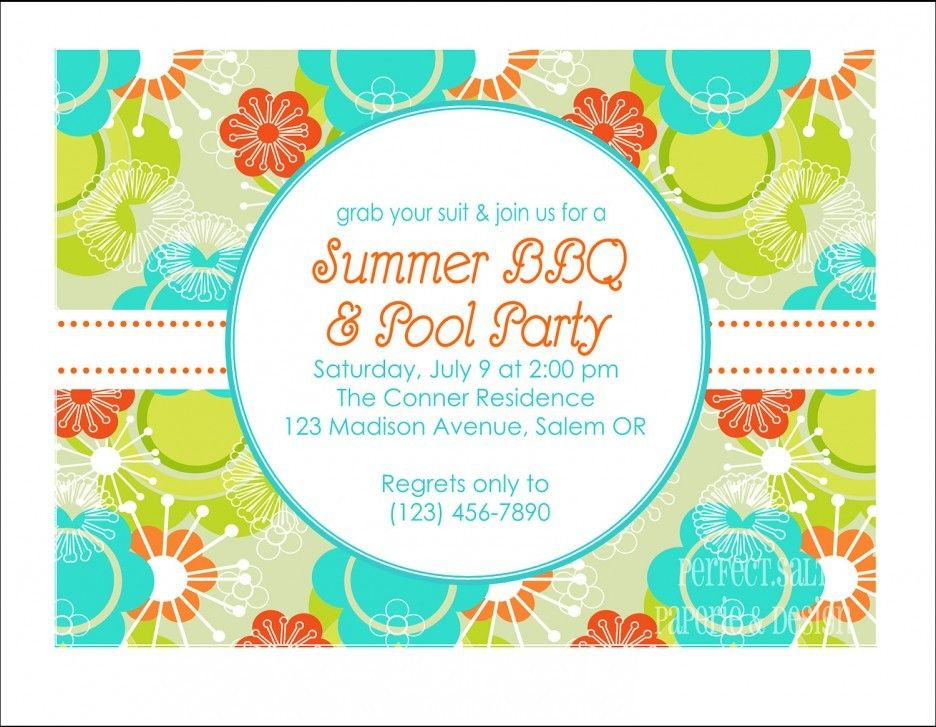 Pin by Destiny on Birthday Pinterest Pool party invitations - pool party invitation