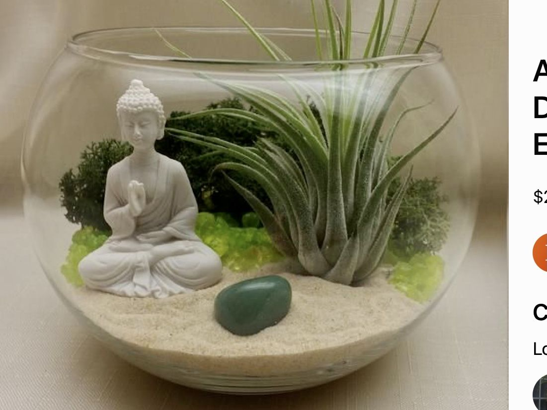 Pin By Marina Petrey On My Space Zen Garden Diy Buddha Garden Diy Succulent Terrarium