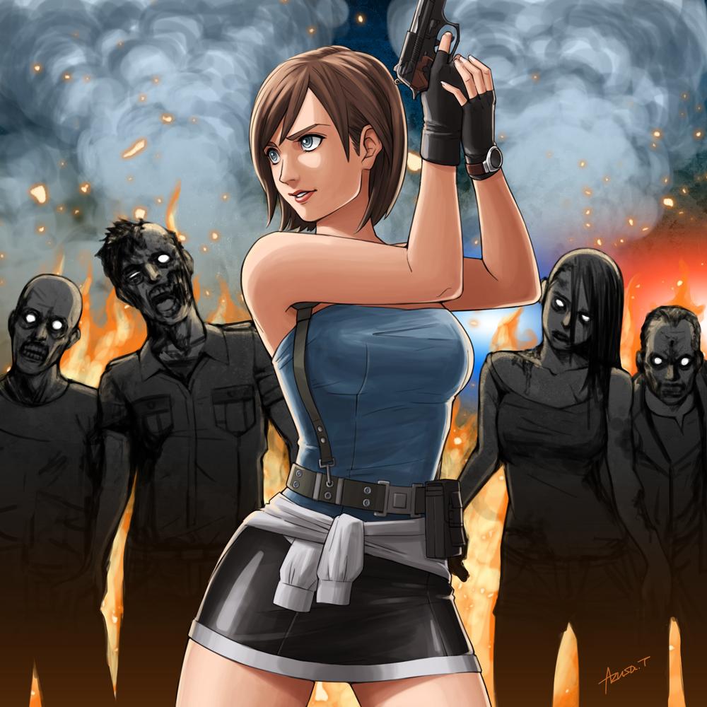 Jill Valentine By Azusa Re3 Resident Evil Girl Resident
