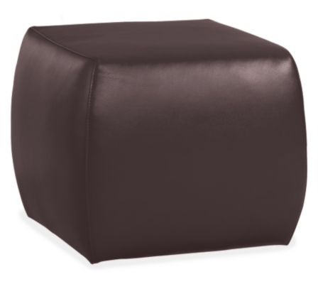 room board modern lind 21w 21d 18h square cocktail ottoman in lecco chocolate in leather
