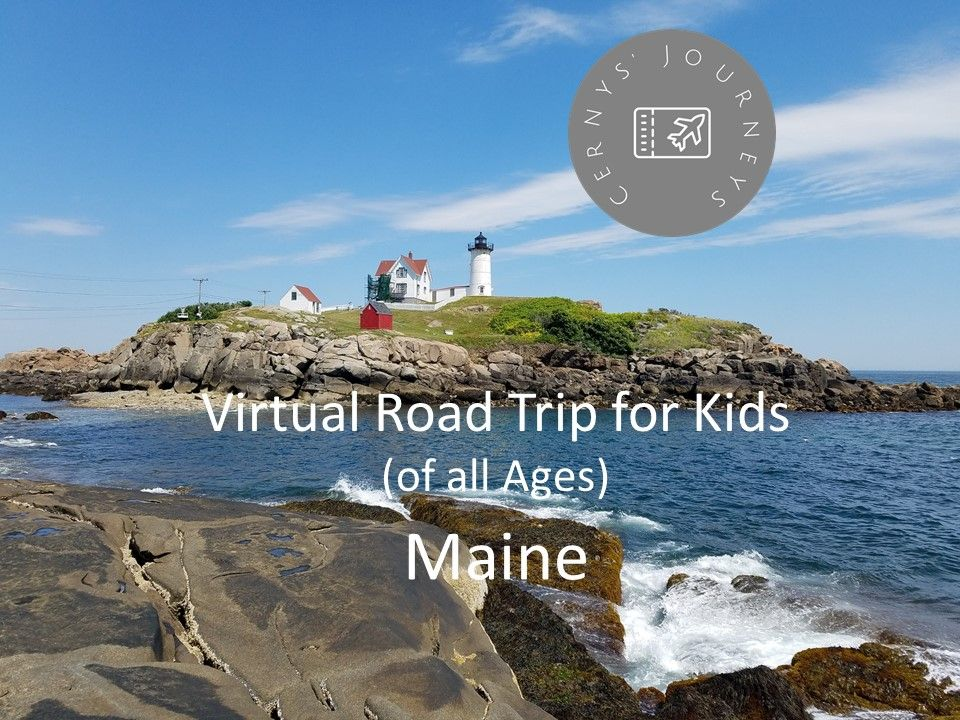 We invite you to learn with us about Finback Whales, Nubble Lighthouse and Acadia National Park.   Visit www.cernysjourneys.com for resources.  Please join us and share your ideas! #cernysjourneys, #travelblogger, #travelwithkids, #virtualtravel, #teachyourkids, #learntogether, #mainetourism, #nubbleofficial, #finnwhales, #acadianationalpark