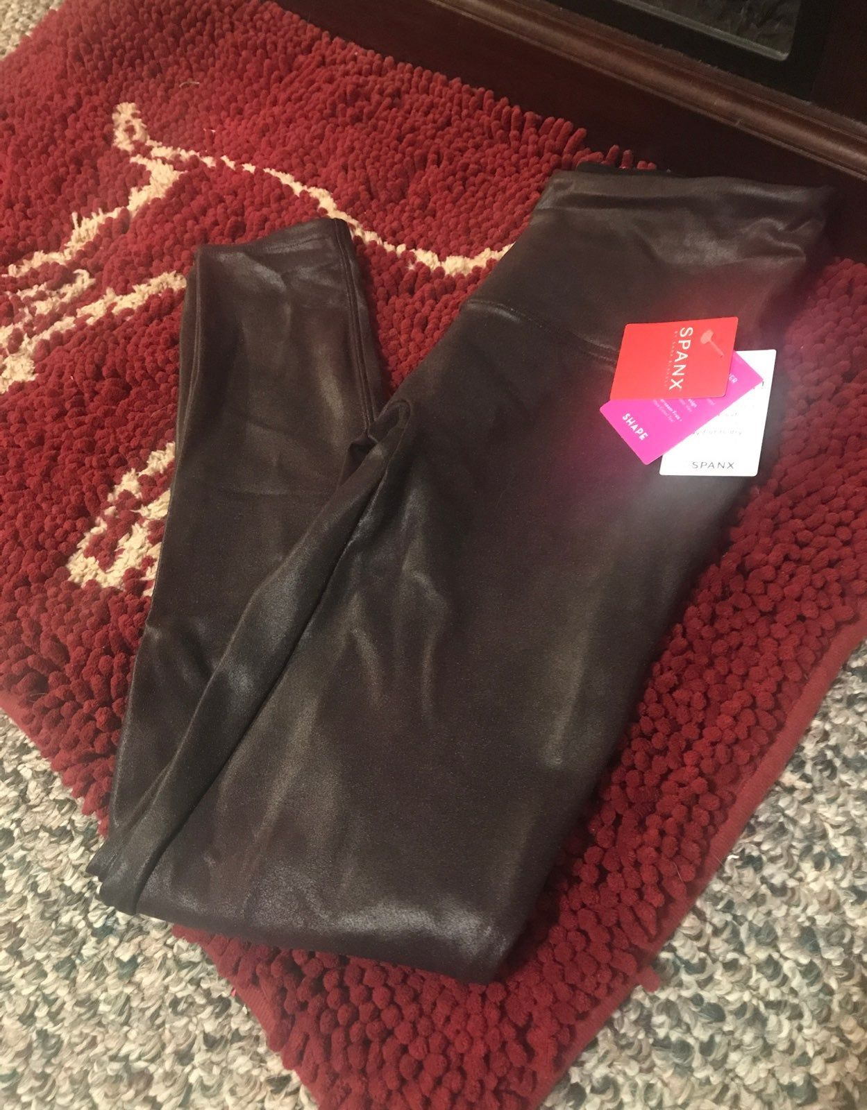 In Brand New Condition Never Worn Paid 98 Ordered Wrong Size These Are A Dark Wine Color Sup Spanx Faux Leather Leggings Faux Leather Leggings Leather Leggings