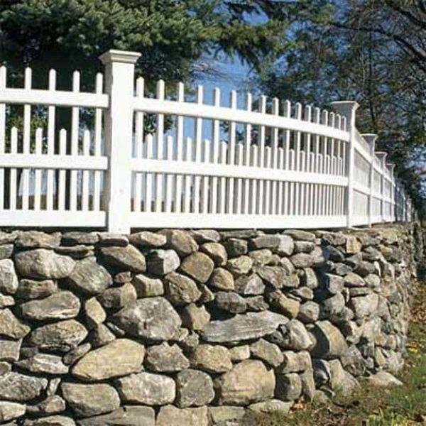 steinmauer mit holzelementen garten ideen gartenzaun Pinterest - gartenideen wall