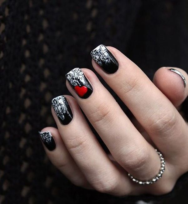 50 Valentine\'s Day Nail Art Ideas | Diseños para uñas, Arte uñas y ...