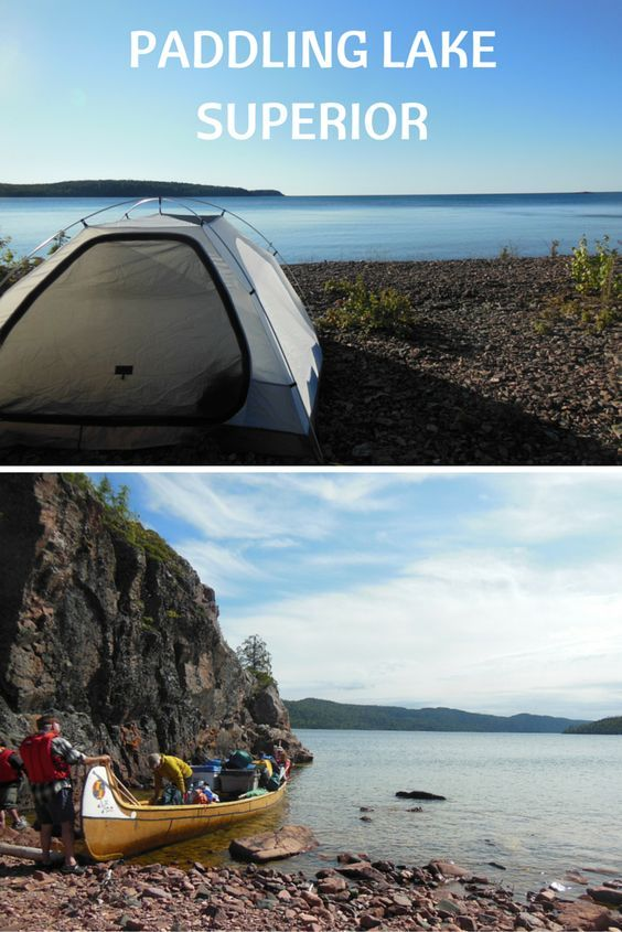 Paddling Lake Superior on the Voyageur Canoe