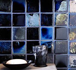 Ceramic Art Tile Fire And Earth Ann Sacks Tile Stone Ann Sacks Tiles Handcrafted Ceramic Tile Tile Art
