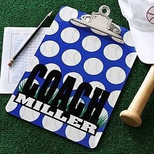 Do it yourself personalized baseball coach clipboard great coach great coach ot teacher gifts handmade gifts gifts it yourself gifts solutioingenieria Gallery
