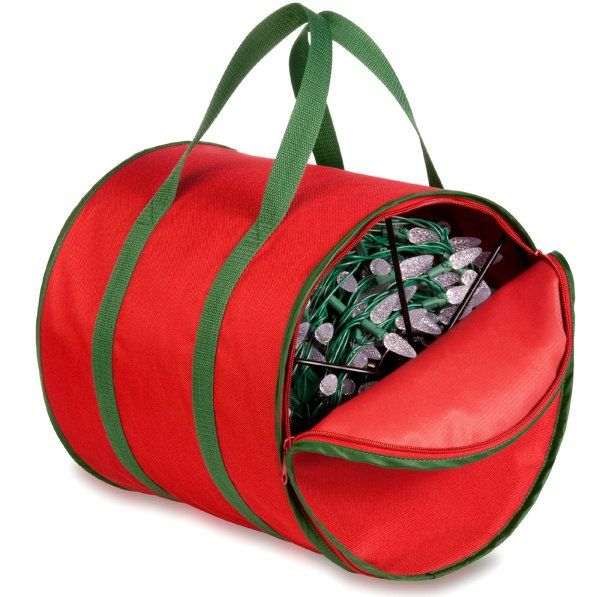 Holiday Lights Storage Reels And Bag By Honey Can Do On Sale Thru Nov 24th Christmas Storage Bag Storage Christmas Light Storage