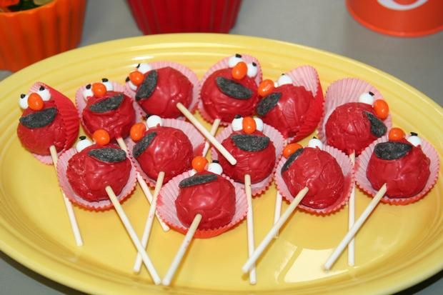 Perhaps manageable... Elmo cake pops