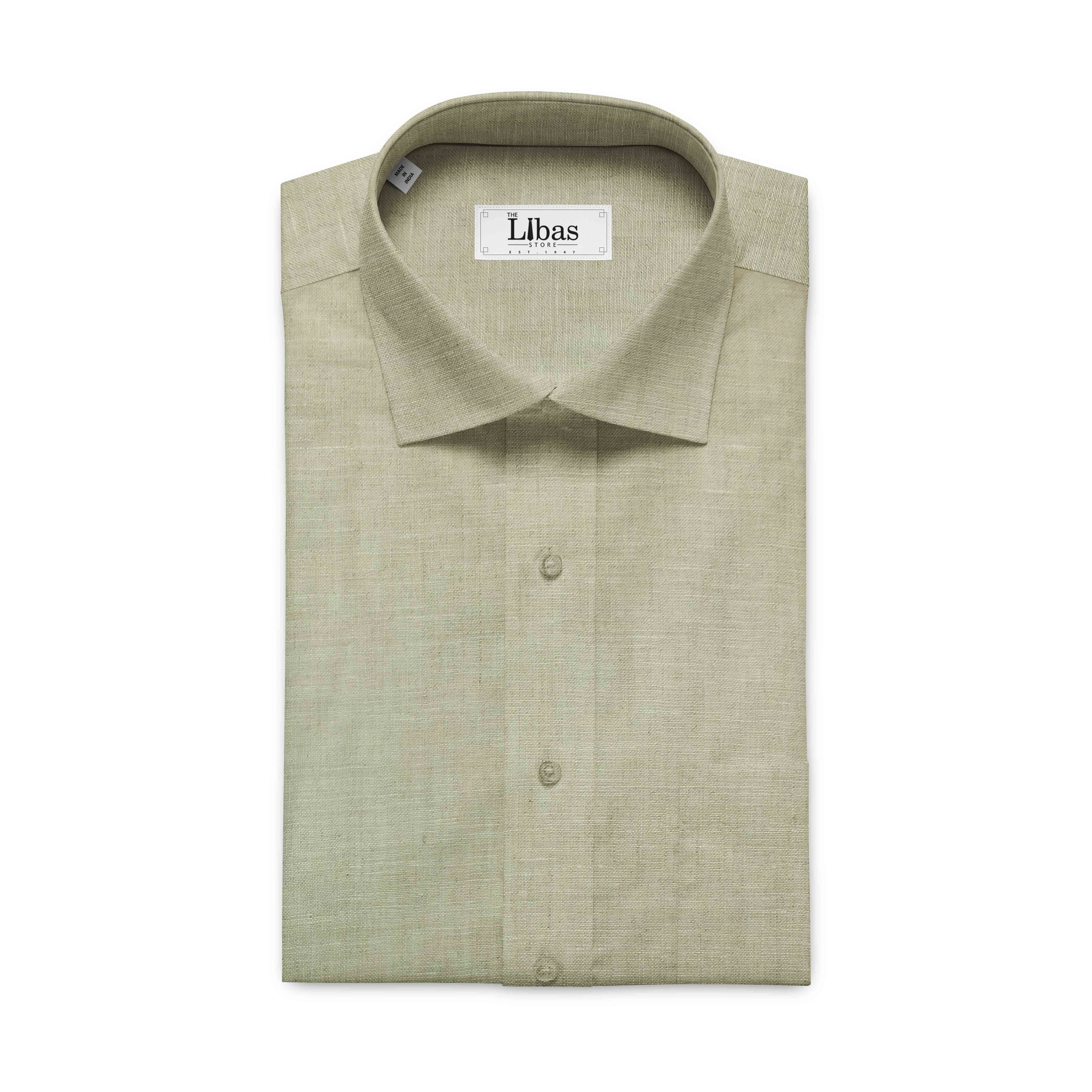 Linen Club Tan Beige 100 Pure Linen Shirt Fabric Linen Shirt Pure Linen Suit Fabric