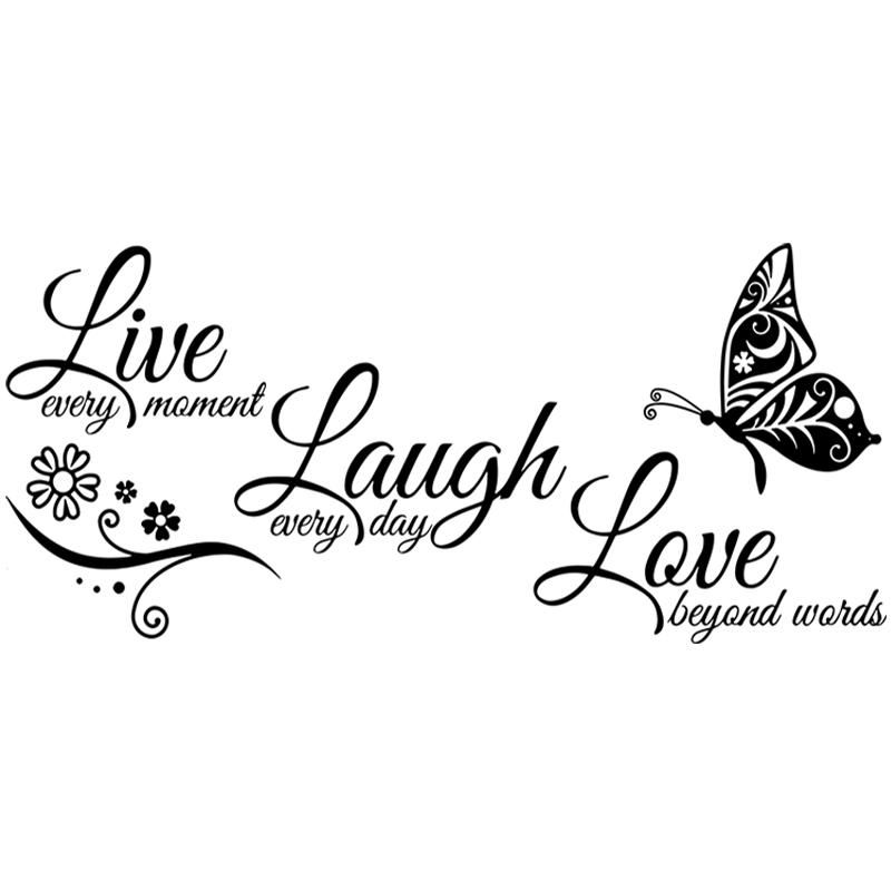 live laugh love butterfly vinyl wall sticker sticker on wall stickers painting id=68110