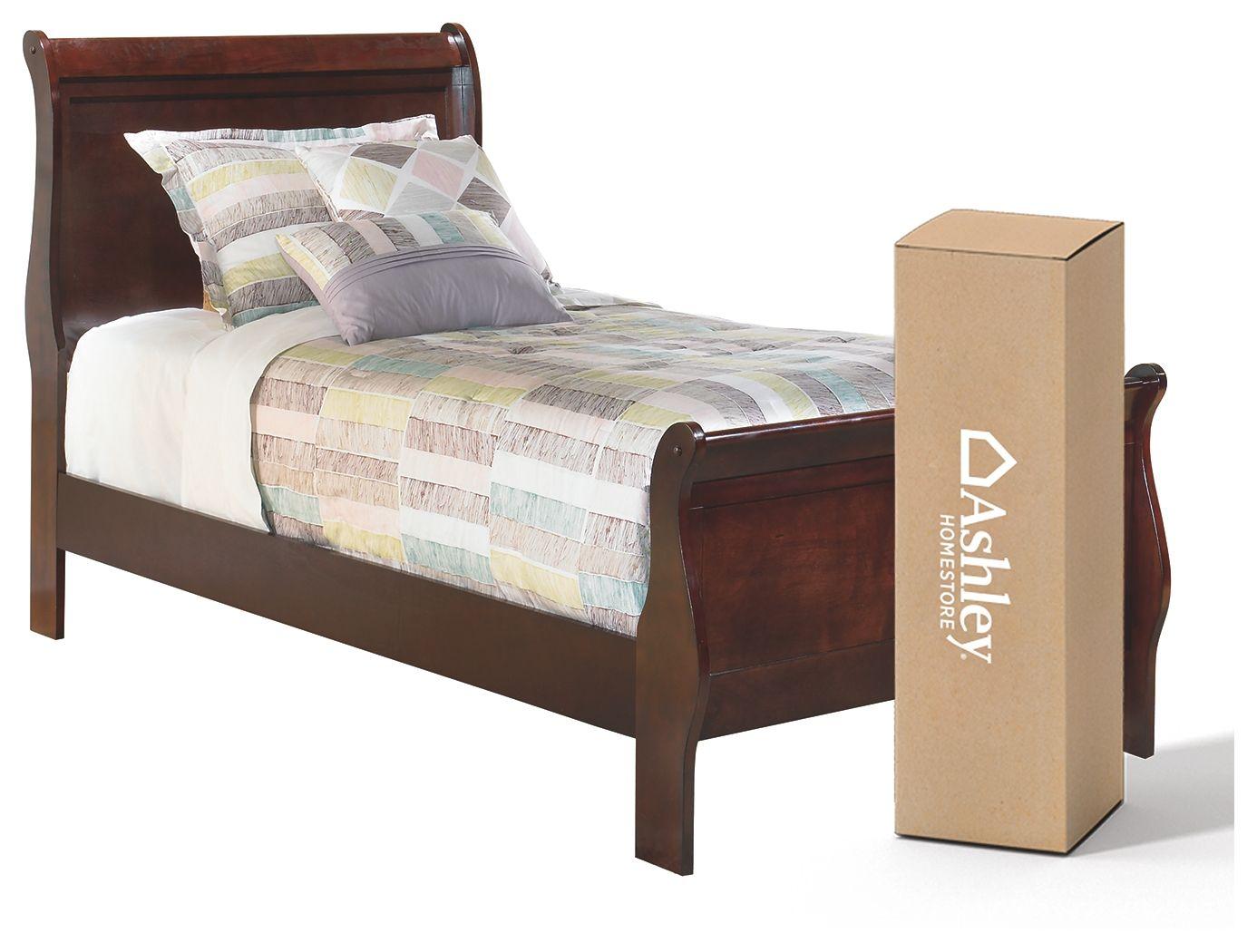 "Alisdair Twin Sleigh Bed with 8"" Innerspring Mattress"