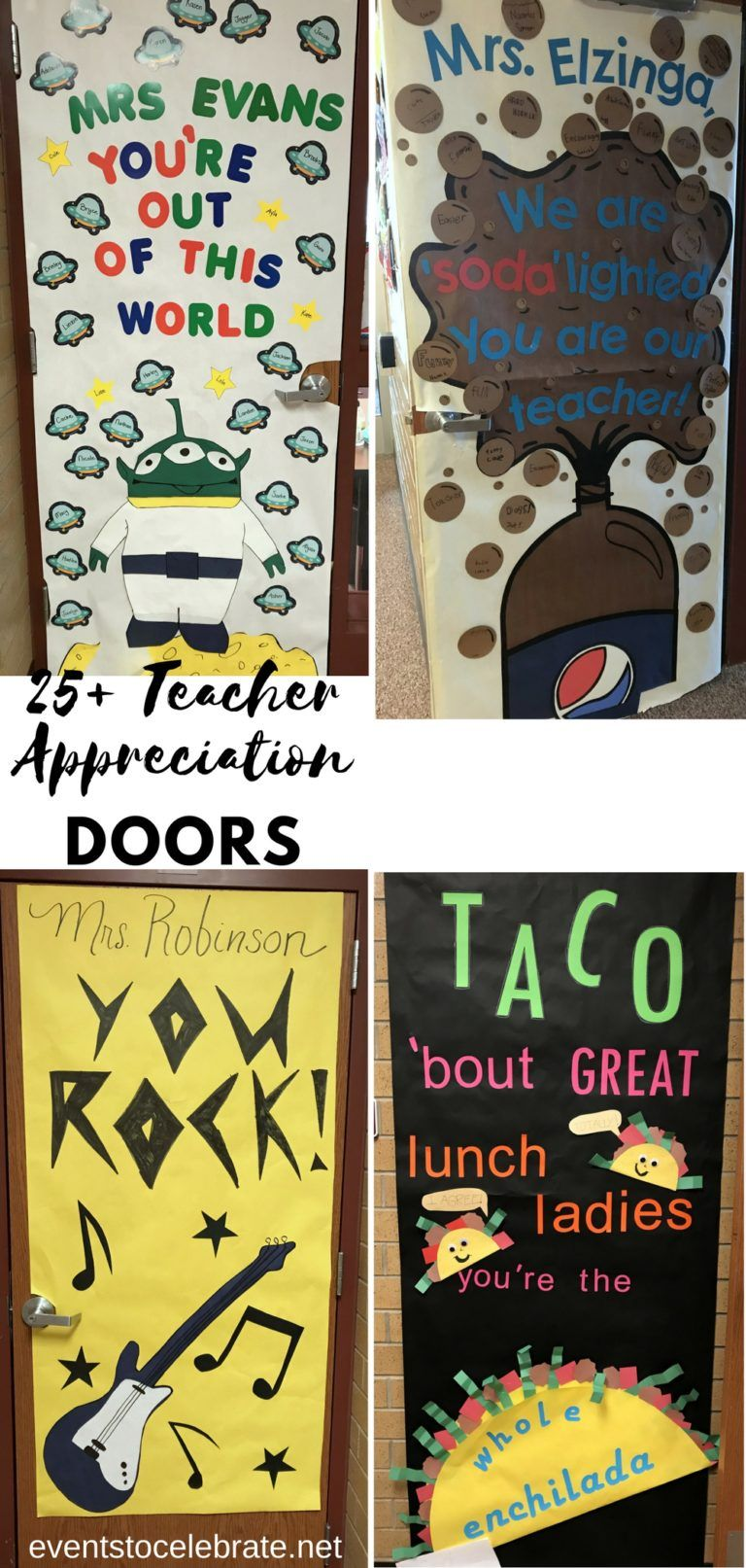 30 Teacher Appreciation Door Decoration Ideas - #custodianappreciationgifts
