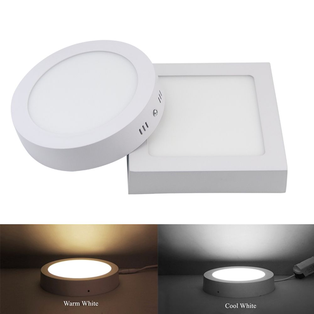 9w 15w 25w Round Square Surface Led Ceiling Light Panel Light Down Light 85 265v Led Indoor Light Led Down Lights Led Ceiling Led Panel Light