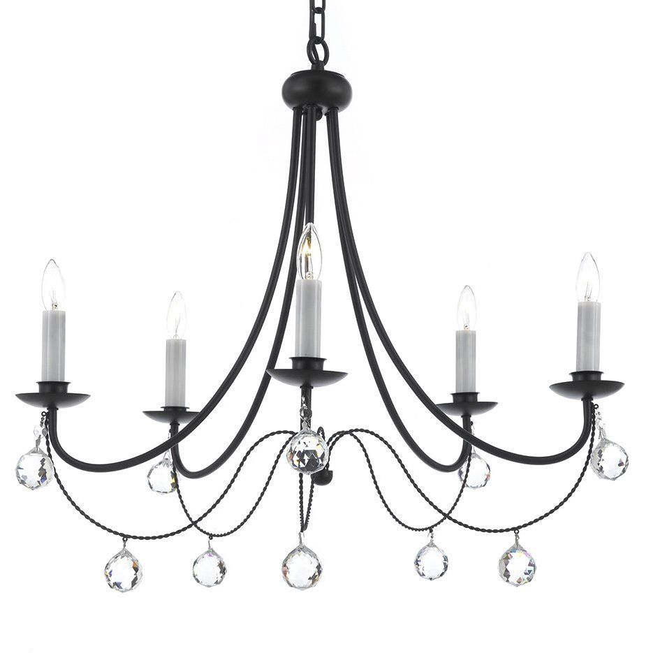 Add this simple yet elegant chandelier to your home and its crystal versailles wrought iron chandelier with faceted crystal balls overstock shopping great deals on gallery chandeliers pendants arubaitofo Images
