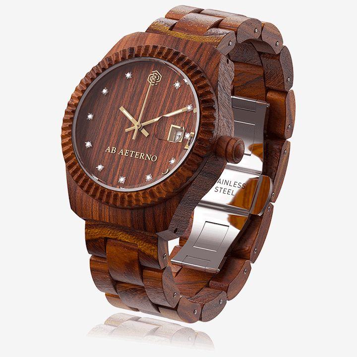 Wooden watch #abaeterno