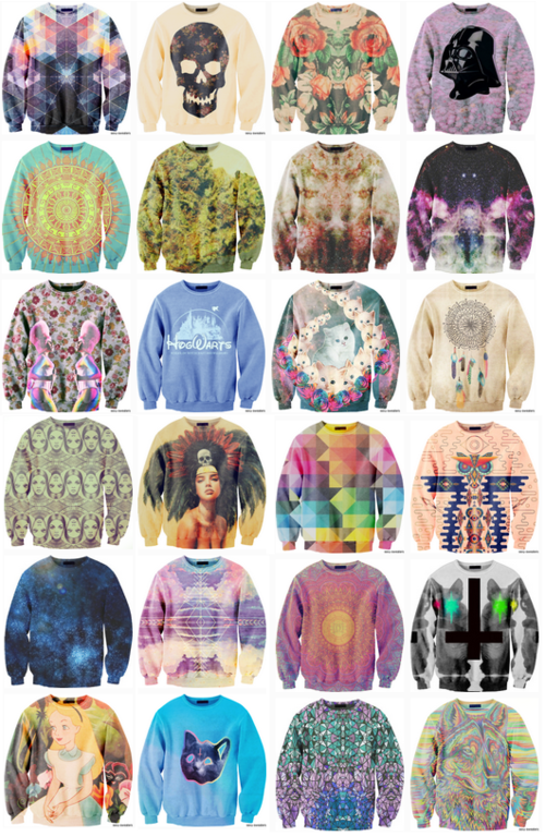 Sweaters!!!...I have been thining of doing a few DIY designs on sweaters, this is great inspiration!