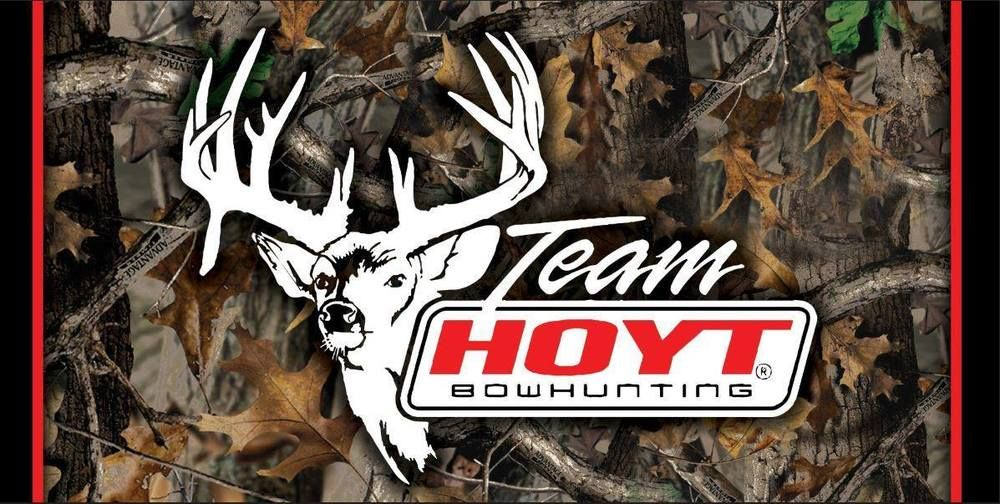Team Hoyt 2 X4 Archery Bow Hunting Whitetail Buck Camp Vinyl Banner Wall Sign Hoyt Bow Hunting Crossbow Hunting Archery Bow