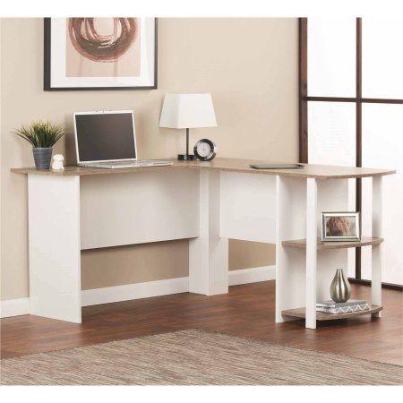 Home Bookshelf Desk L Shaped Corner Desk White Desks