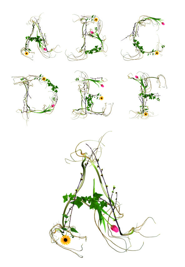 Floral #Typeface, For #Typography Lovers With Green Thumbs http://designtaxi.com/news/356900/Floral-Typeface-For-Typography-Lovers-With-Green-Thumbs/
