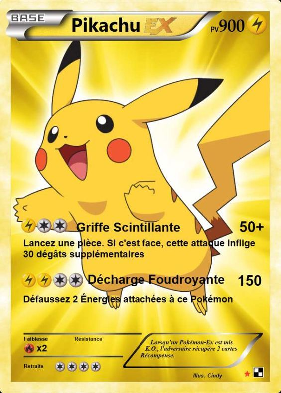 carte pokemon pikachu ex pikachu ex giratina | Imprimer carte pokemon, Carte pokemon et