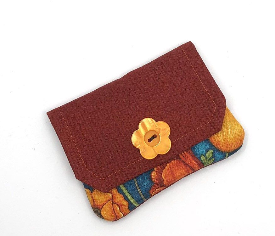 CARD HOLDER POPPIES