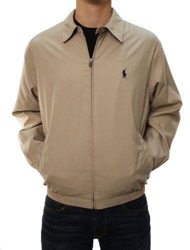 Polo Ralph Lauren Men Lightweight Jacket (L, Khaki) RALPH LAUREN ++ You can  get best price to buy this with big discount just for you.++ 7d1822f3985
