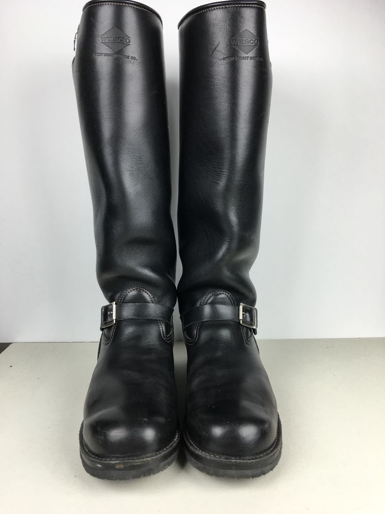Men S Leather Wesco Boss Motorcycle Boots Size 15 Custom Made
