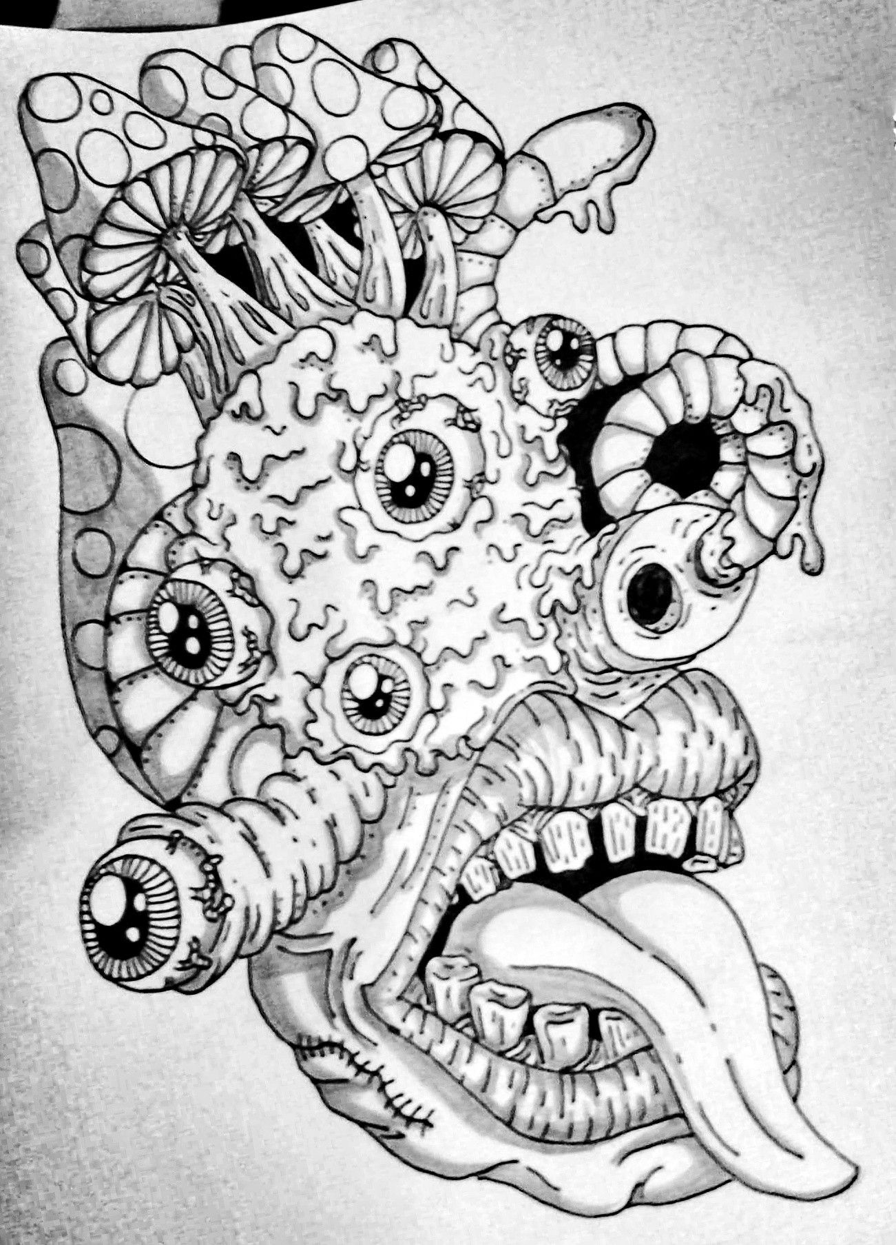 #tattoo #random #doodle #art #psychedelic #mushrooms #eyes ...