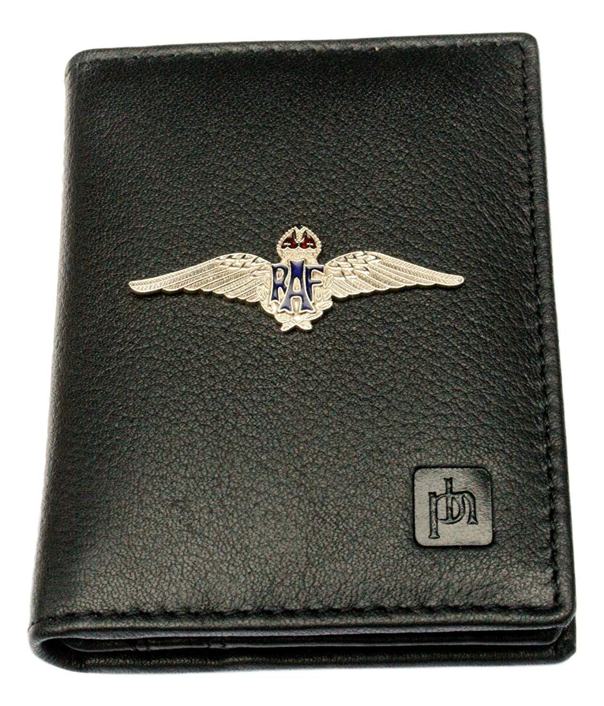 Full Leather Bifold Credit Card Holder RFID Safe Holds 10