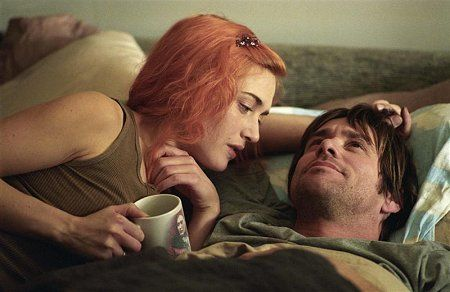Kate Winslet and Jim Carrey star as Clementine and Joel in Eternal Sunshine of the Spotless Mind