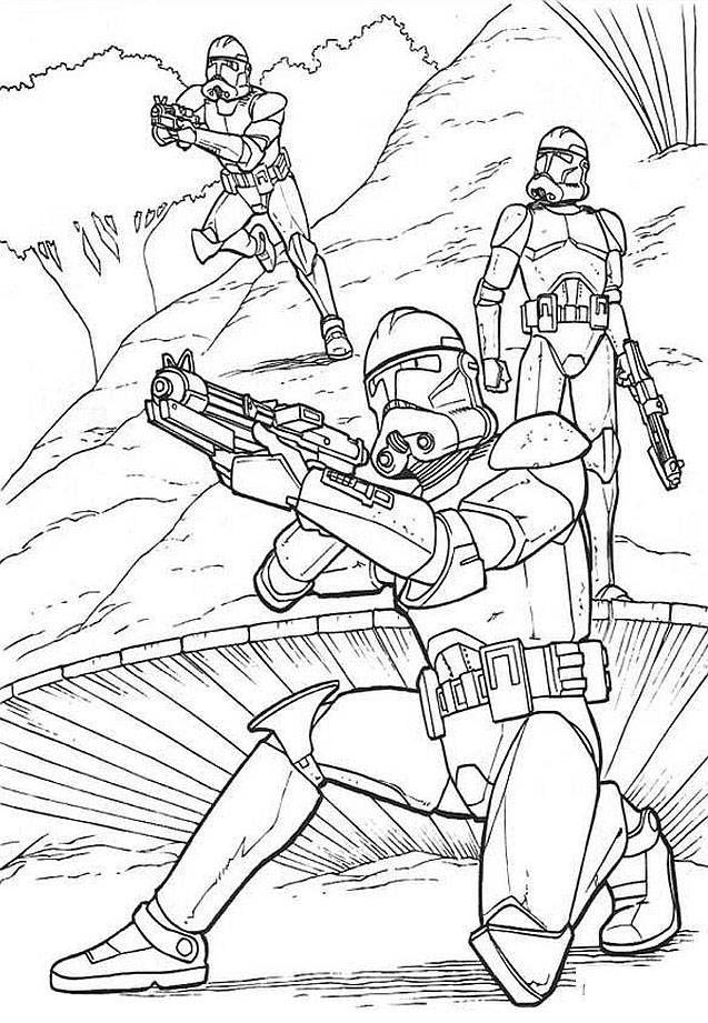 Kolorowanki Star Wars Gwiezdne Wojny Dla Chlopcow Do Wydruku