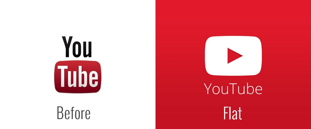 Youtube S New Flat Logo Vs Their Old One With Images Youtube